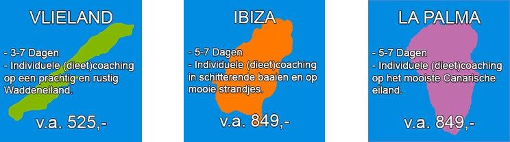 coaching op Ibiza, La Palma en Vlieland